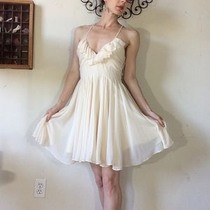 Ark & Co Dresses - Ark & co. creamy white Flowy chiffon mini dress